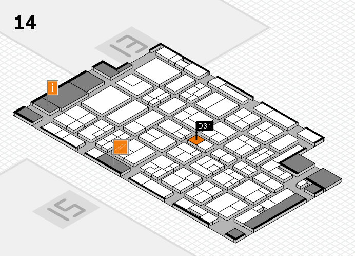 MEDICA 2016 hall map (Hall 14): stand D31