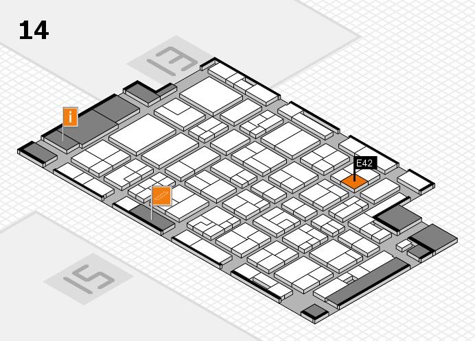 MEDICA 2016 hall map (Hall 14): stand E42
