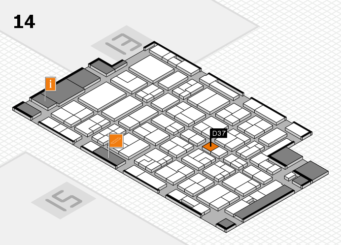 MEDICA 2016 hall map (Hall 14): stand D37