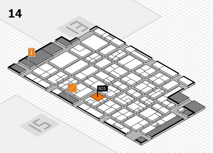 MEDICA 2016 hall map (Hall 14): stand B25