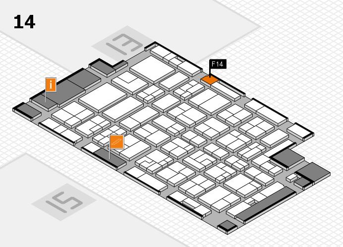 MEDICA 2016 Hallenplan (Halle 14): Stand F14