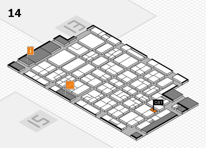 MEDICA 2016 hall map (Hall 14): stand C61