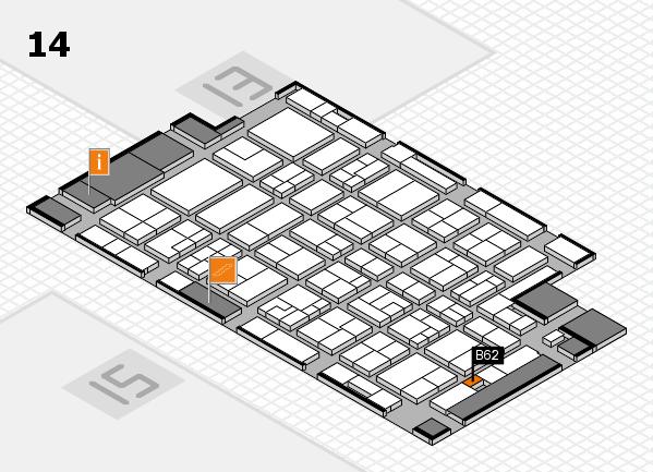 MEDICA 2016 hall map (Hall 14): stand B62