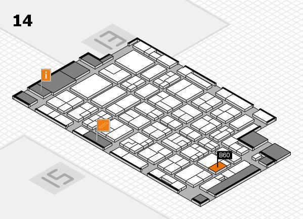 MEDICA 2016 Hallenplan (Halle 14): Stand B60