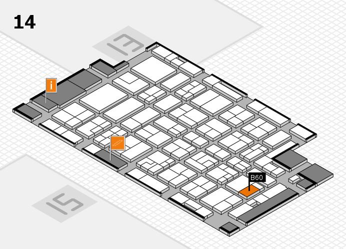 MEDICA 2016 hall map (Hall 14): stand B60
