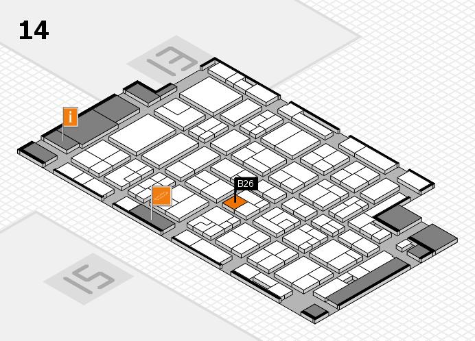 MEDICA 2016 hall map (Hall 14): stand B26