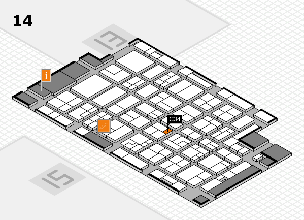 MEDICA 2016 hall map (Hall 14): stand C34