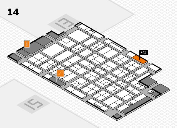 MEDICA 2016 Hallenplan (Halle 14): Stand F42
