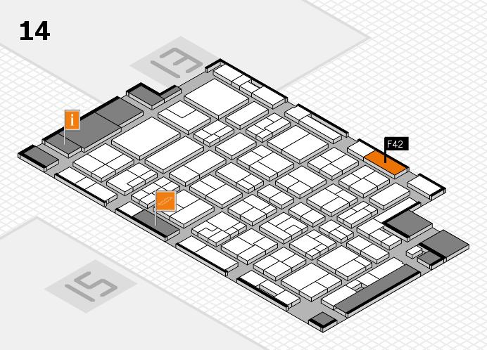 MEDICA 2016 hall map (Hall 14): stand F42