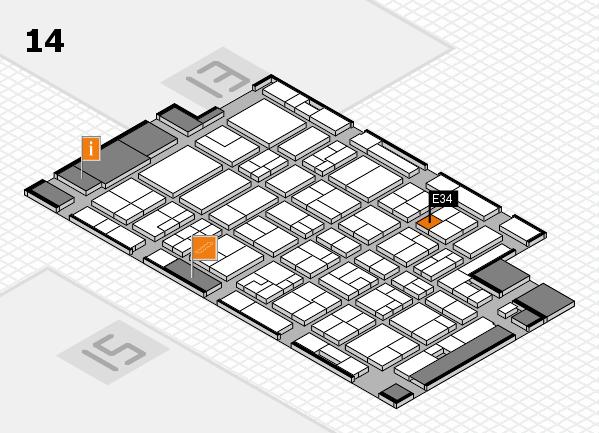 MEDICA 2016 hall map (Hall 14): stand E34