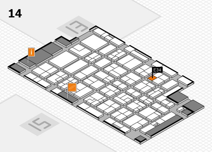 MEDICA 2016 Hallenplan (Halle 14): Stand E34