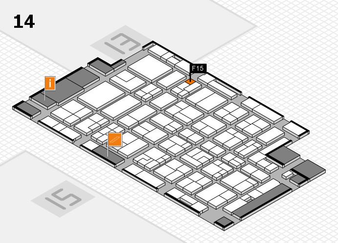 MEDICA 2016 Hallenplan (Halle 14): Stand F15