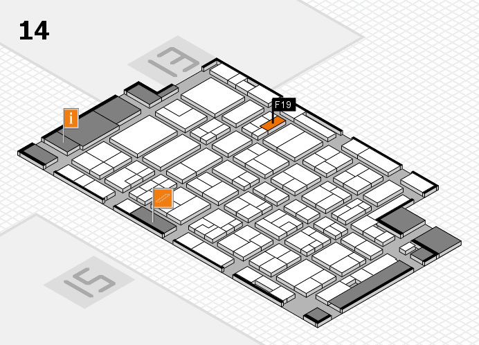 MEDICA 2016 Hallenplan (Halle 14): Stand F19