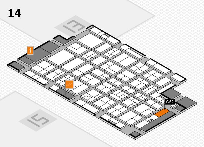 MEDICA 2016 hall map (Hall 14): stand C62