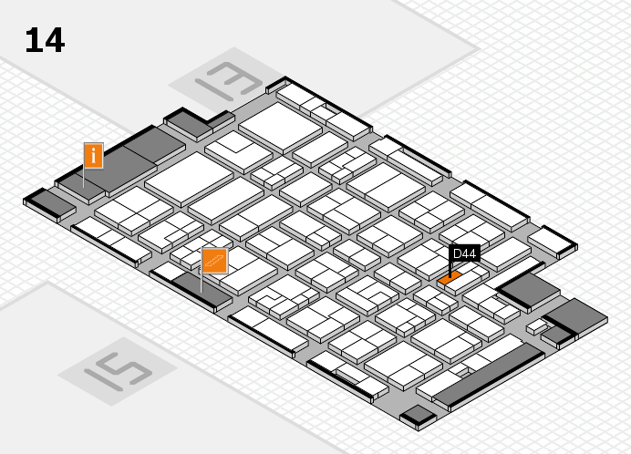 MEDICA 2016 hall map (Hall 14): stand D44
