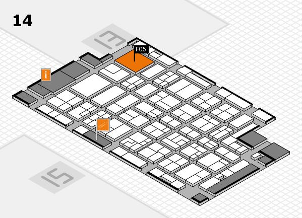 MEDICA 2016 hall map (Hall 14): stand F05