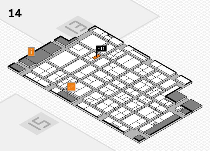MEDICA 2016 Hallenplan (Halle 14): Stand E11