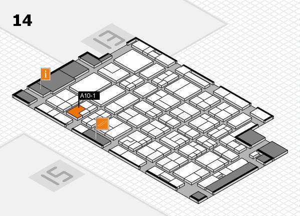 MEDICA 2016 hall map (Hall 14): stand A10-1