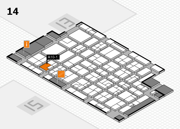 MEDICA 2016 hall map (Hall 14): stand A10-1