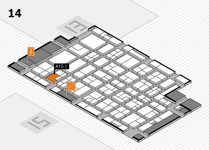 MEDICA 2016 Hallenplan (Halle 14): Stand A10-1