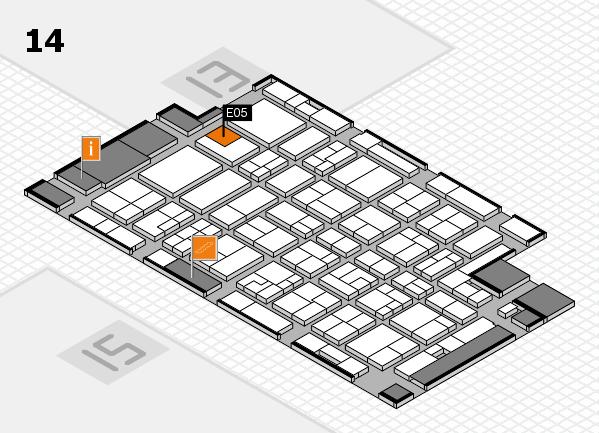 MEDICA 2016 Hallenplan (Halle 14): Stand E05