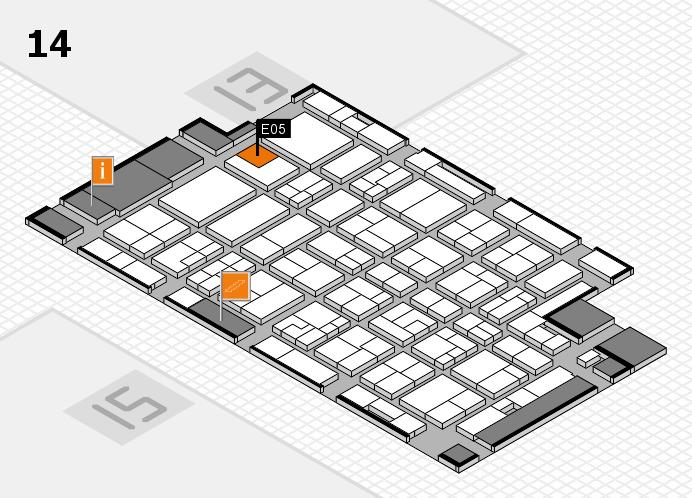 MEDICA 2016 hall map (Hall 14): stand E05