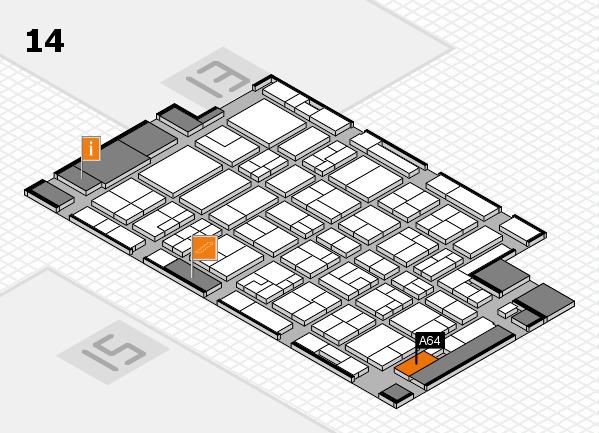 MEDICA 2016 hall map (Hall 14): stand A64