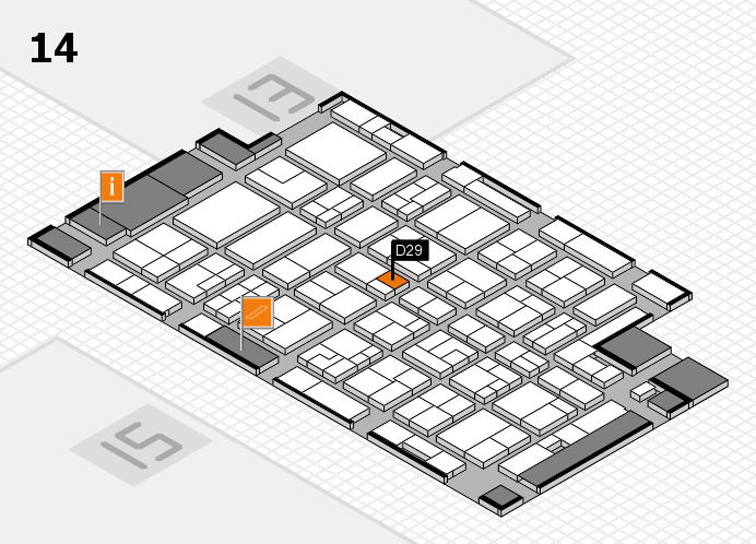 MEDICA 2016 hall map (Hall 14): stand D29