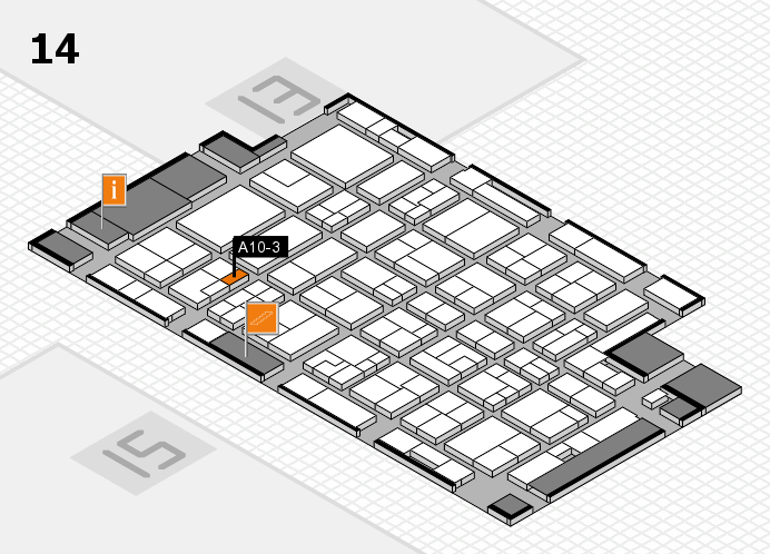 MEDICA 2016 hall map (Hall 14): stand A10-3