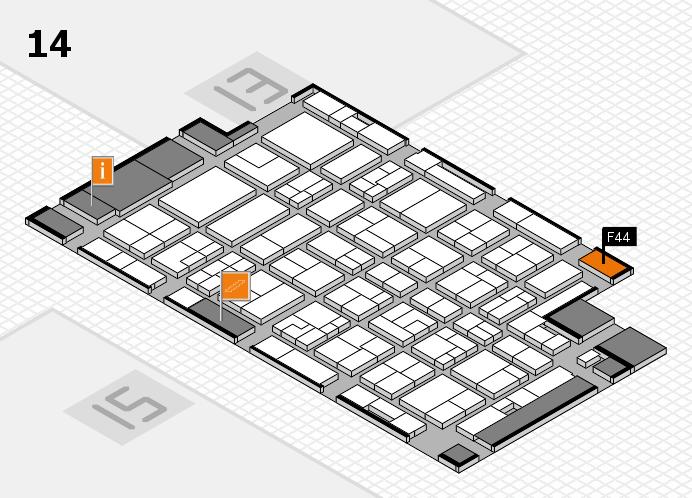 MEDICA 2016 Hallenplan (Halle 14): Stand F44