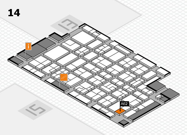 MEDICA 2016 Hallenplan (Halle 14): Stand A62