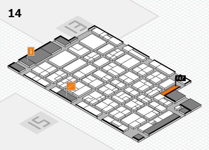 MEDICA 2016 Hallenplan (Halle 14): Stand F47
