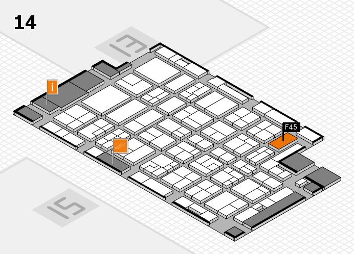 MEDICA 2016 hall map (Hall 14): stand F45