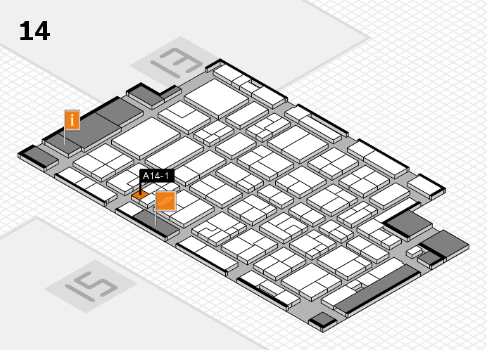 MEDICA 2016 hall map (Hall 14): stand A14-1