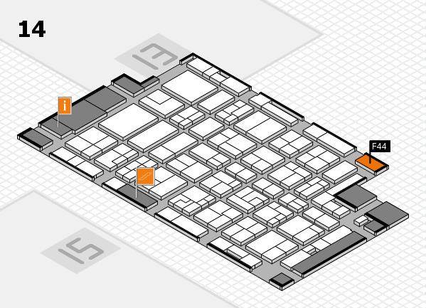 MEDICA 2016 hall map (Hall 14): stand F44