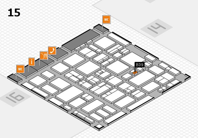 MEDICA 2016 hall map (Hall 15): stand B39