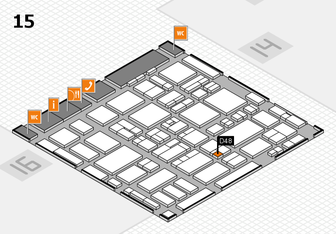 MEDICA 2016 hall map (Hall 15): stand D48
