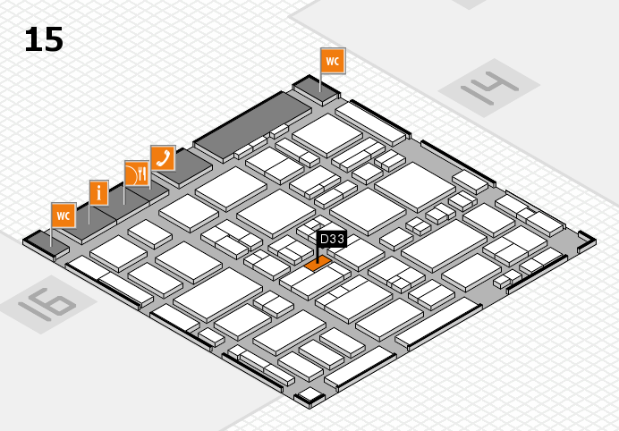 MEDICA 2016 hall map (Hall 15): stand D33