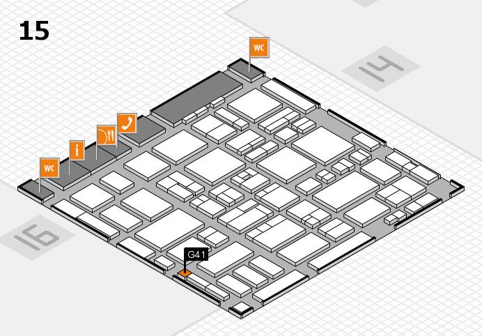 MEDICA 2016 hall map (Hall 15): stand G41