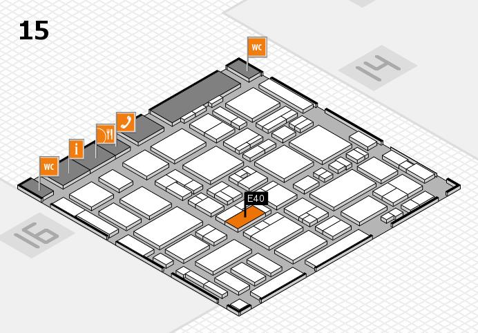 MEDICA 2016 hall map (Hall 15): stand E40