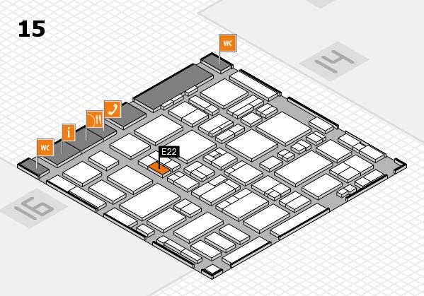MEDICA 2016 Hallenplan (Halle 15): Stand E22