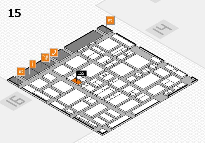 MEDICA 2016 hall map (Hall 15): stand E22
