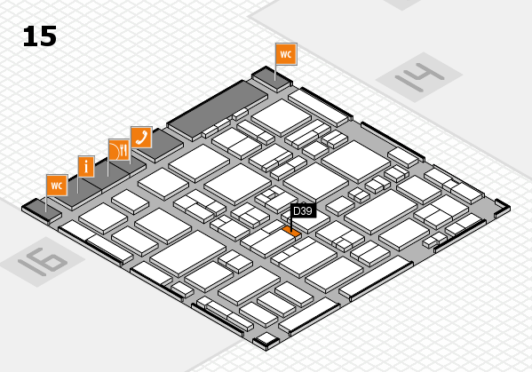MEDICA 2016 hall map (Hall 15): stand D39