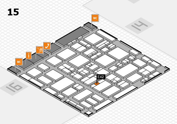 MEDICA 2016 hall map (Hall 15): stand E42