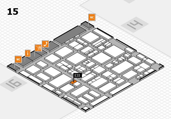 MEDICA 2016 hall map (Hall 15): stand E33