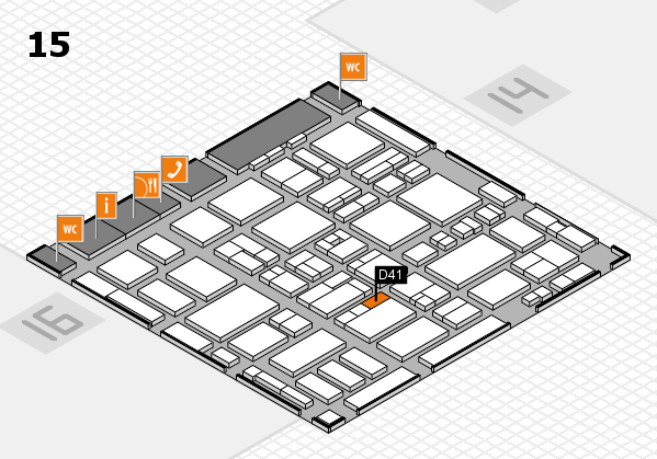 MEDICA 2016 hall map (Hall 15): stand D41