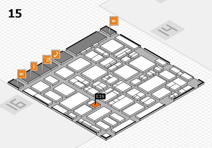 MEDICA 2016 hall map (Hall 15): stand E39