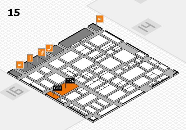 MEDICA 2016 Hallenplan (Halle 15): Stand G23, Stand G24