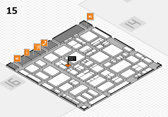 MEDICA 2016 hall map (Hall 15): stand D21