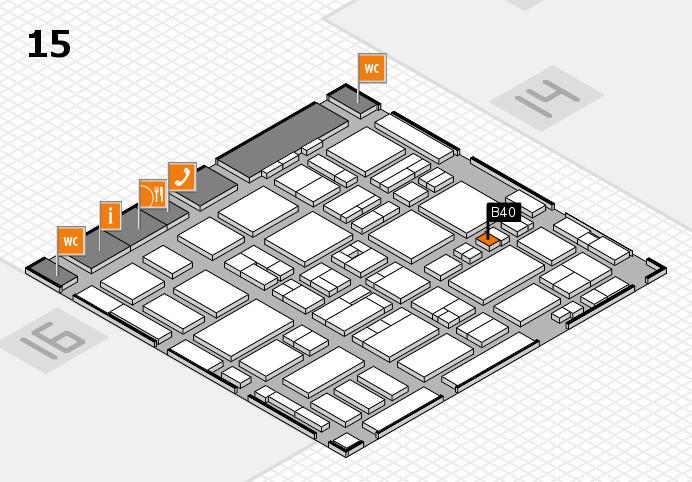 MEDICA 2016 hall map (Hall 15): stand B40